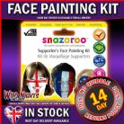 SNAZAROO FACE PAINT SUPPORTERS THEME FACE PAINTING PACK